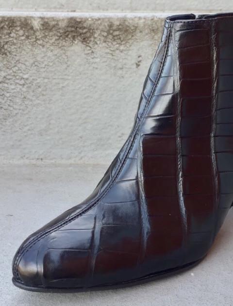 Dame støvlet i Ægte Krokodilleskind | 7661
